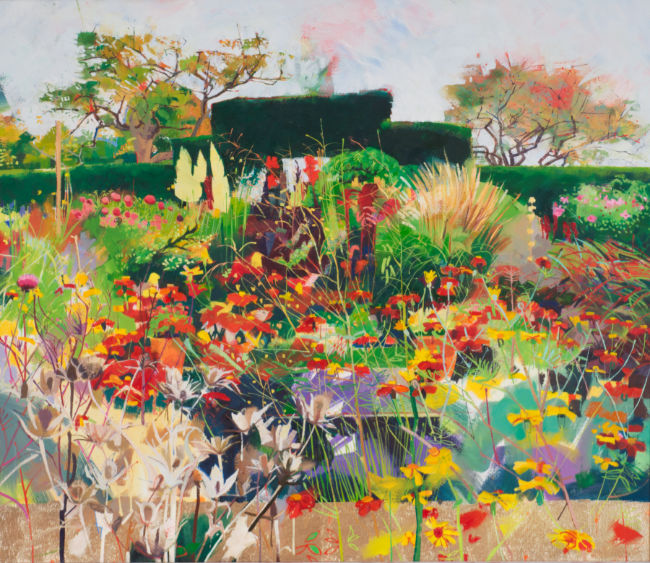 Louis Turpin - The Sunk Garden - Oil on Canvas - 26 x 30 inches