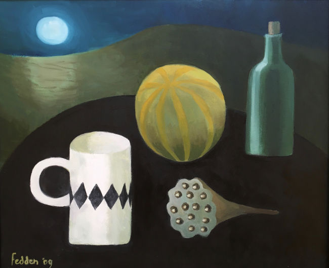 Mary Fedden RA - The Moon - Oil on Canvas - 20 x 24 Inches