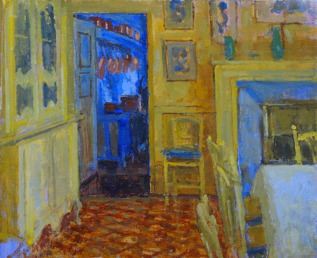 Pamela Kay - The Dining Room Giverny - Oil on Board - 9 x 11 Inches