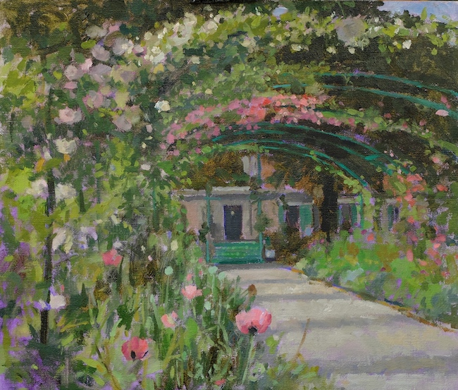 Pamela Kay - The Grand Allee in June - Oil on Board - 12 x 14 Inches