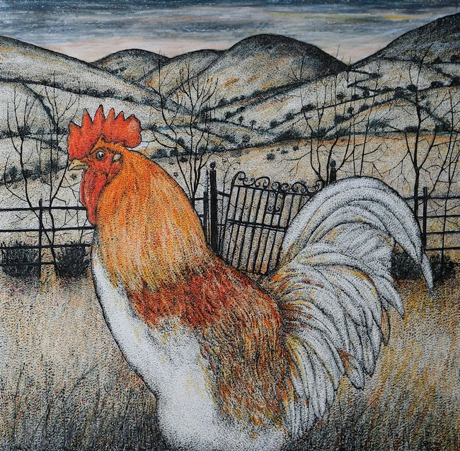 Seren Bell - Cockerel - Mixed Media - Seren Bell - Cockerel - Mixed Media -