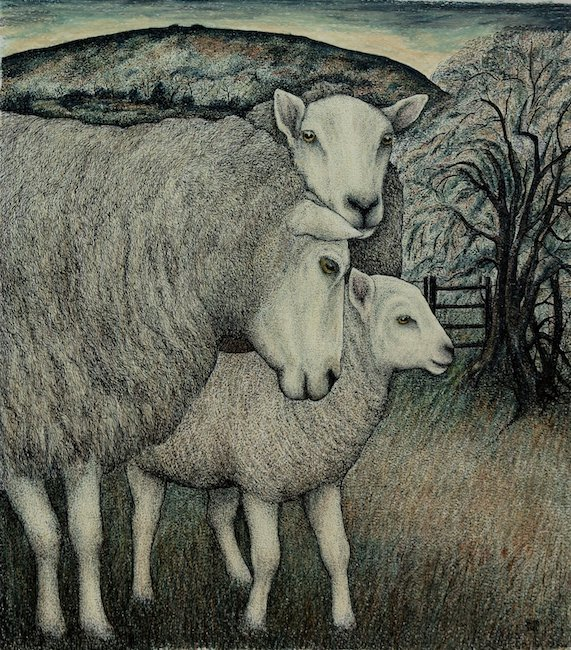 Seren Bell - May Lamb - Mixed Media - 16.5 x 14 Inches
