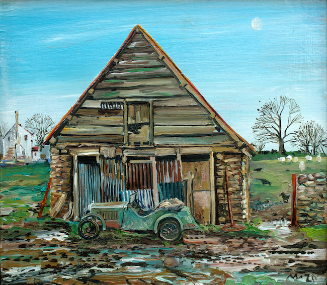 Alex Williams - My Father's First Car - Oil on Canvas - 12 x 10.5 Inches
