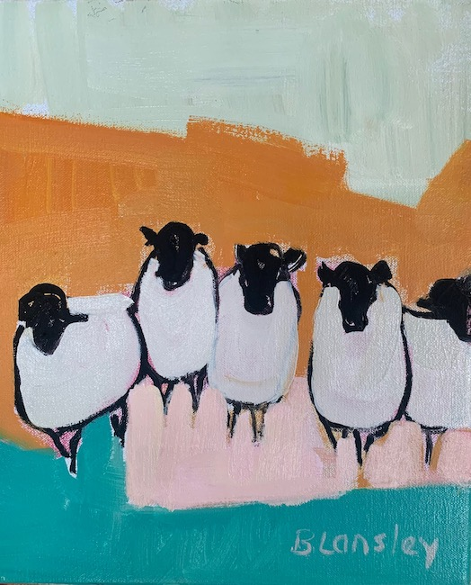 Bridget Lansley - The Welcome - Oil on Canvas - 12 x 10 Inches