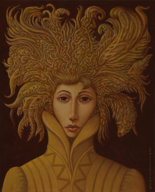 George Underwood - Overthinking - Oil on Canvas - 22 x 18 Inches