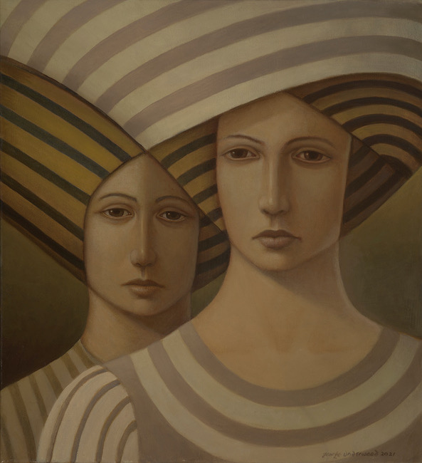 George Underwood - The Look - Oil on Canvas - 22 x 24 Inches