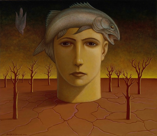 George Underwood - The Young Dreamer - Oil on Canvas - 26 x 30 Inches