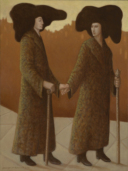 George Underwood - Walk This Way - Oil on Canvas - 18 x 24 Inches