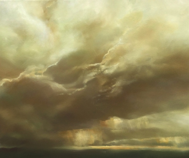 Gareth Hugh Davies - Passing Clouds - Oil on Canvas - 24 x 20 Inches