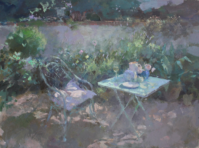 Jacqueline Williams - Morning Garden - Oil on Board - 20 x 24 Inches