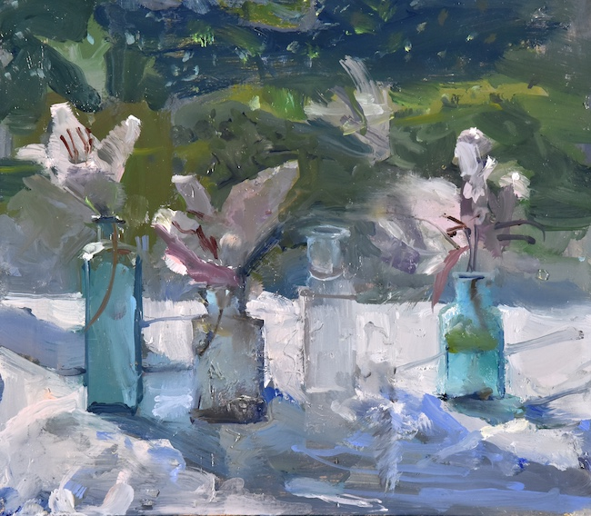 Richard Pikesley - Lily - Oil on Board - 8 x 9 Inches