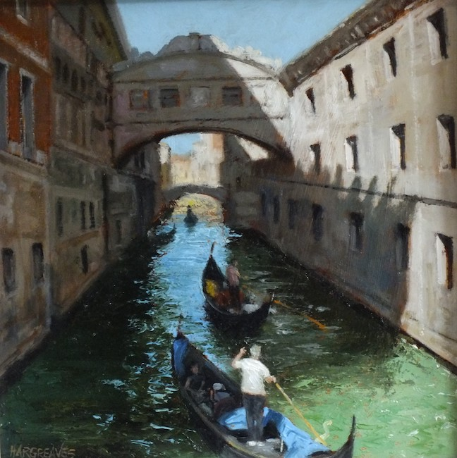 Ian Hargreaves - Bridge of Sighs - Oil on Board - 12 x 12 Inches