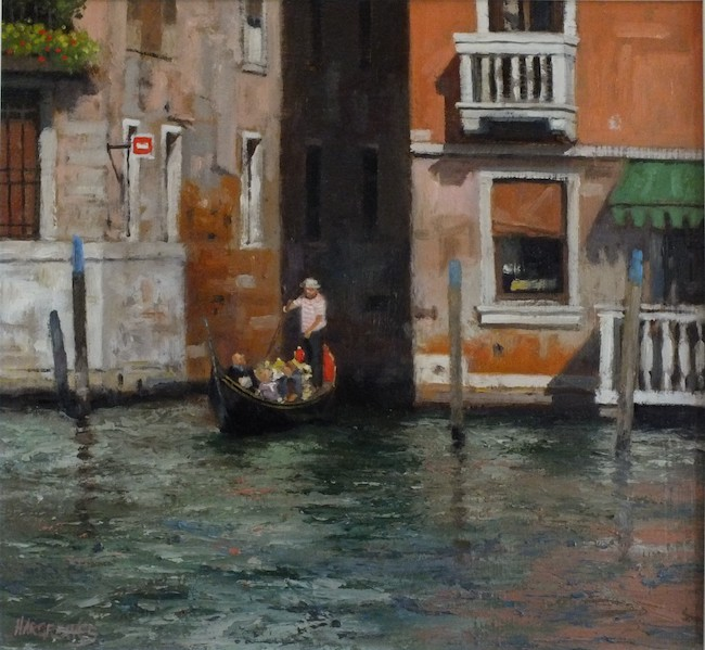 Ian Hargreaves - Sightseeing - Oil on Board - 12 x 12 Inches