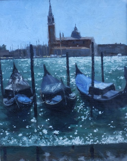 Ian Hargreaves - Venetian Sparkle - Oil on Board - 8 x 6 Inches