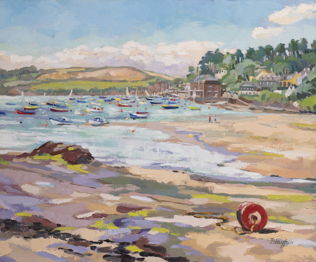 Annabel Playfair - Towards Rock From Porthilly, Cornwall - Oil on Canvas - 20 x 24 Inches